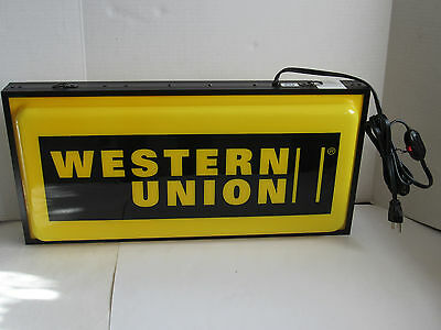 Electric WESTERN UNION 2 Sidded Yellow & Black Sing w/ Original Packaging