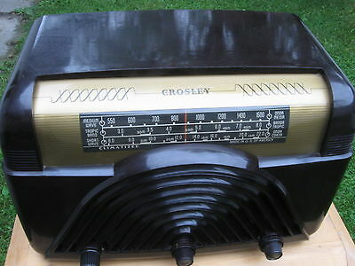 Vintage Crosley Bakelite Radio  Multi-band 210v International Voltage