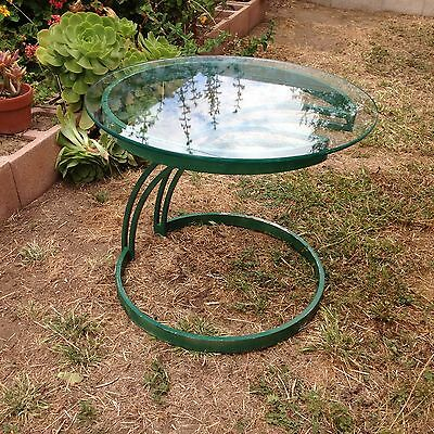 Vintage Mid-century Modern Glass Top Patio Side Table,  PICK UP La Verne, CA