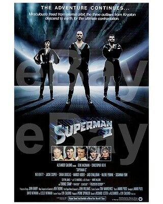 Superman II (1980) Poster 10x8 Photo