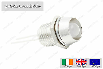 10x Metal Holder Socket For 5mm LED Diode Light Emitting Mount Housing