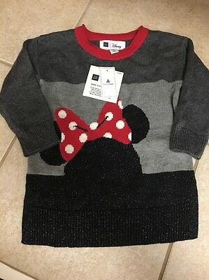 Baby Gap Disney Minnie Mouse Sweater Tunic NWTS SIZE 18-24m