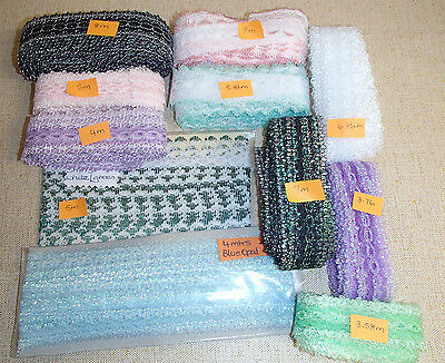 Pack of  61 metres of assorted knitting in/coathanger/eyelet lace PK 3