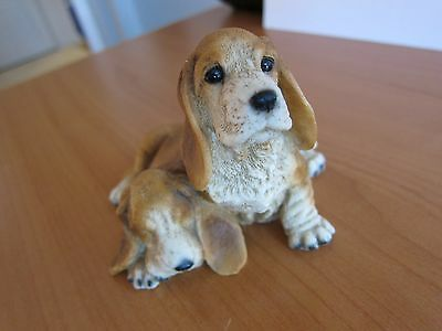 Original by CASTAGNA Two Dogs Figurine - Made in Italy - Basset Hound Puppies