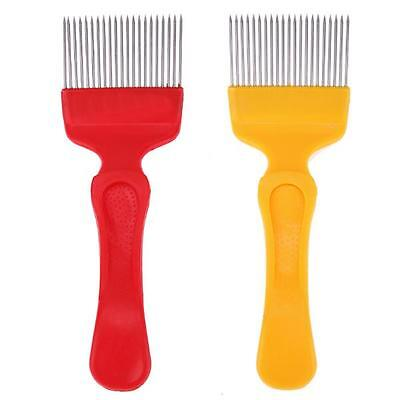 21 Pin Stainless Steel Tines Comb Uncapping Fork Scratcher Bee Beekeeping Honey