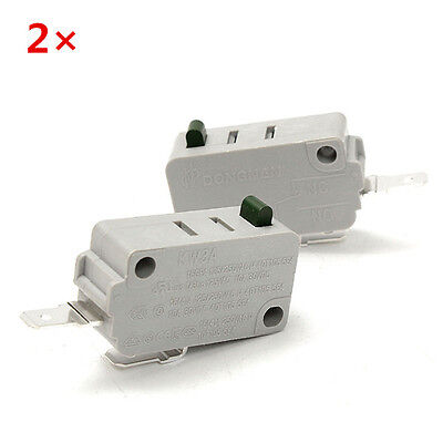 2Pcs KW3A Door 2Pin Micro Switch DR52 For Microwave Oven Rice Cooker