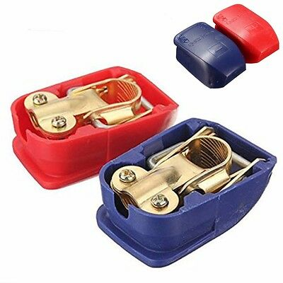 2Pcs Quick Release Clamps for 12V Round Terminal Battery Blue&Red