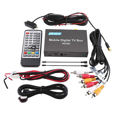 Car Vehicle Mini HD/SD DVB-T Mobile Digital TV Box Analog Tuner Signal Receiver