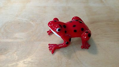 Red Poison Dart Frog Glass Collectible Figurine