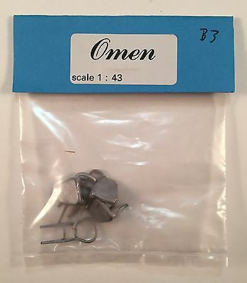 Omen Metal Casting 1:43 Figure B3 Victorian Drawing Room Chairs Kit to Make 3
