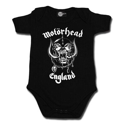 Motorhead England Baby One Piece 0-18 Bodysuit Infant Metal Kids Black Romper