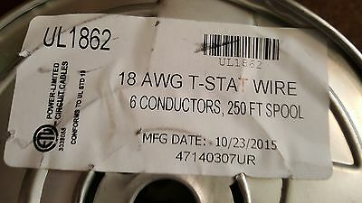 Honeywell Genesis 4714 18/6C 18 awg 6 Cond Solid Thermostat Cable Brown US /50ft