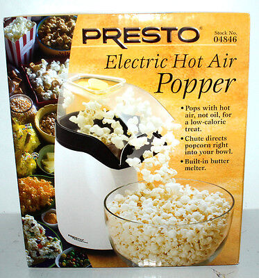Presto Electric Hot Air Popcorn Popper White