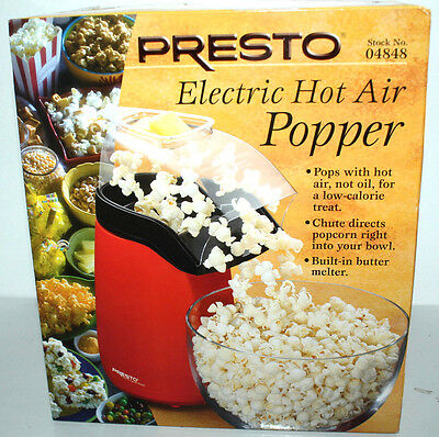 Presto Electric Hot Air Popcorn Popper Red