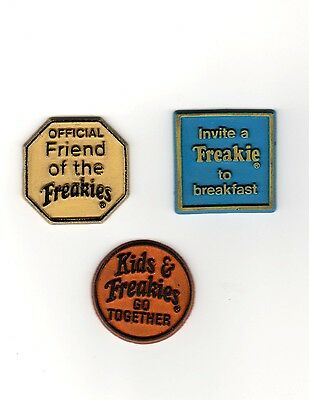 Vintage 1970s Ralston Purina Co FREAKIES CEREAL Rare Magnet Lot Official Friend+