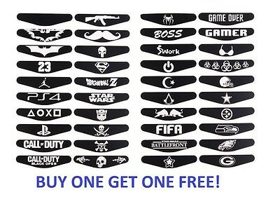 PS4 Dualshock 4 Decals Stickers Designs Buy one get one FREE!!! (FREE POSTAGE)
