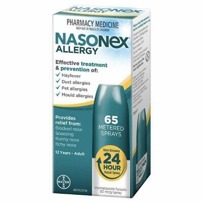 * Nasonex Allergy 65 Metered Nasal Sprays Hayfever Dust Allergies Treatment