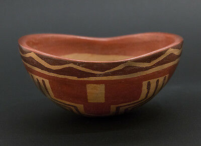 Pre Columbian, Chupicuaro Kidney Pottery Bowl, Late Formative, 200 B.C. 300 A,D,