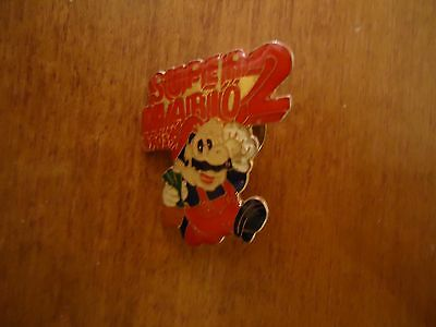 Super Mario Bros. 2 Nintendo NES Promotional Button Pin Promo