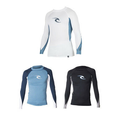 New Rip Curl Men's Wave Long Sleeve UV Tee Rash Vest Tops Swimwear Size XS-XL