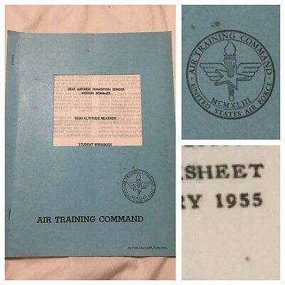 1955 Air Training Command USAF Medium Bomb Jet High Altitude Weather Workbook
