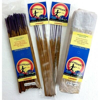 MOONDANCE Quality Incense LAVENDER 100g BULK INCENSE FAST SHIPPING SMUDGE - SAVE