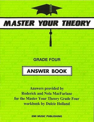 Master Your Theory - Grade Four Answer Book - Music Theory Book
