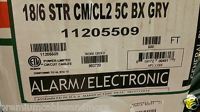 Honeywell Genesis Cable 1120 18/6C Str UnShield Media/Comm Wire USA CM /100ft