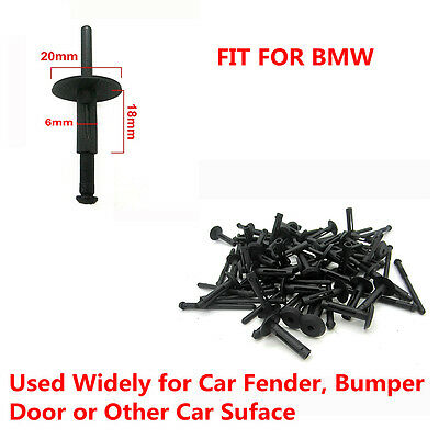 100 x Plastic Rivets Clips Fastener Fender Door Hood Bumper Trim Panel for BMW