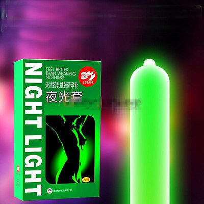 7pcs Night Light Adult Latex Condom Luminous Condom 3pcs Glow + 4pcs Not Glow