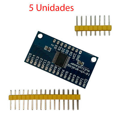 x5 Modulo Analogico Digital CD74HC4067 16 Canales Canal Multiplexer Breakout