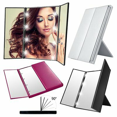 8 LED Light MakeUp Cosmetic  Mirror Foldable Travel Beauty Vanity Stand Desk AU