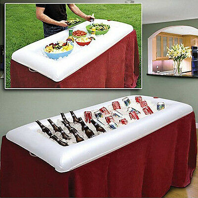 Inflatable Serving Bar Party Camping Salad Buffet Ice Cooler Picnic Drink Table