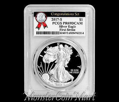 2017-S Silver Eagle Congratulations Set PCGS PR69DCAM FIRST STRIKE