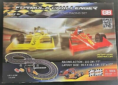Formula One Challenger Road Racing Set Ages 3+ Toy Slot Car Race Track Boys Play