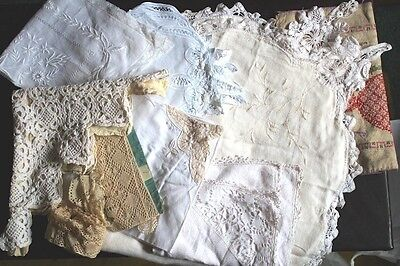 Antique LOT  - Assorted Edwardian/Victorian Silk, Crochet, Needlework edging