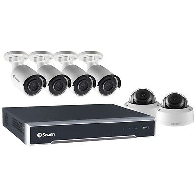 Swann 8 Channel 5MP CCTV System - NVR with 2TB HDD, 4 x Bullet and 2 x Dome Cams
