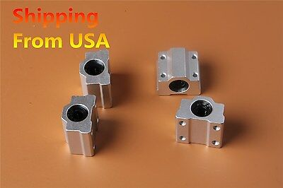 4Pcs SC8UU SCS8UU 8MM CNC Linear Motion Ball Bearing Slide Bushing W