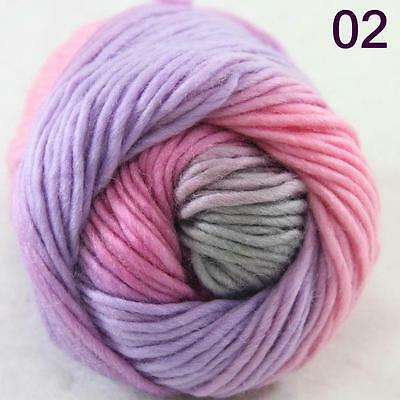 SALE NEW Chunky Colorful Hand Knitting Scores Wool Yarn Hot Pink Baby Pink Grey