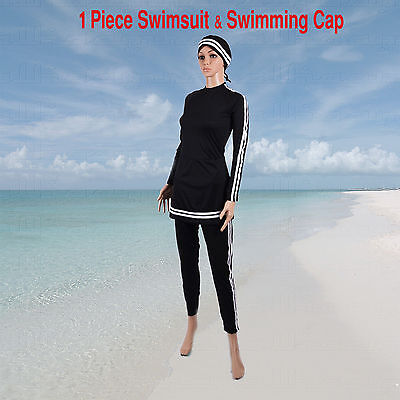 AlHamra Bahri Burkini Full Cover Modest Swimwear Swimsuit Muslim XS - XXL Girls