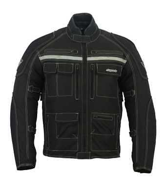 RKSports TOURING MENS WATERPROOF TEXTILE  MOTORCYCLE JACKET CE ARMOUR