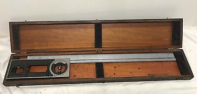 "Starrett No. 439 Combination Square Builder Tool 24"" w Tool Head USA Made"