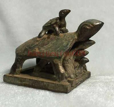 Collectibles Chinese Old bronze statue of longevity family wealth lucky turtle