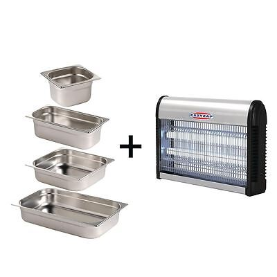 Eazyzap Insect Killer and Stainless Steel Gastronorm Set 2 Gastronorm Lids