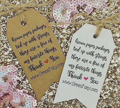 Thank You Order For Your Tags / Cards, Business Compliment Slips