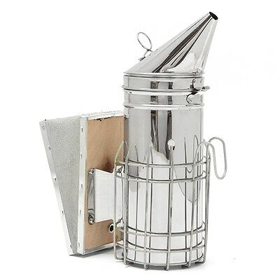 Stainless Steel Bee Hive Smoker Heat Shield Beekeeping Smoker
