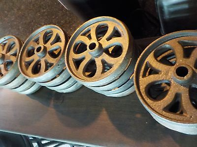 Daisy Pattern Cast Iron Hit and Miss Engine Cart wheels