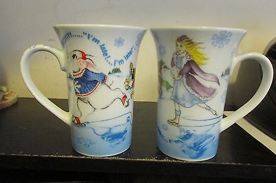 2 Paul Cardew Alice In Wonderland Winterland Mugs