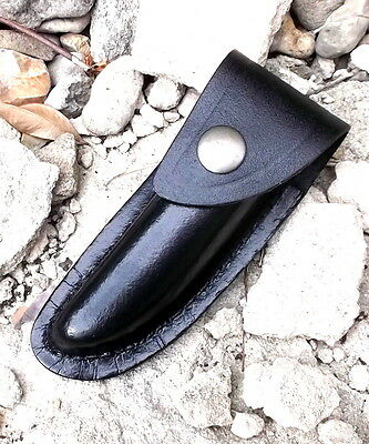 BLK 10cm leather knife case,leather sheath camping bush craft,edc knife pouch