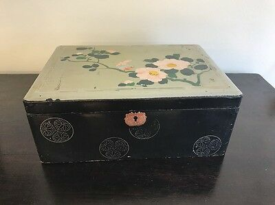 ANTIQUE,19th CENTURY JAPANESE LACQUERED BOX